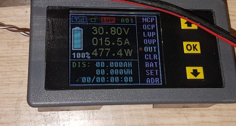 Consumo entrada láser Synrad V40