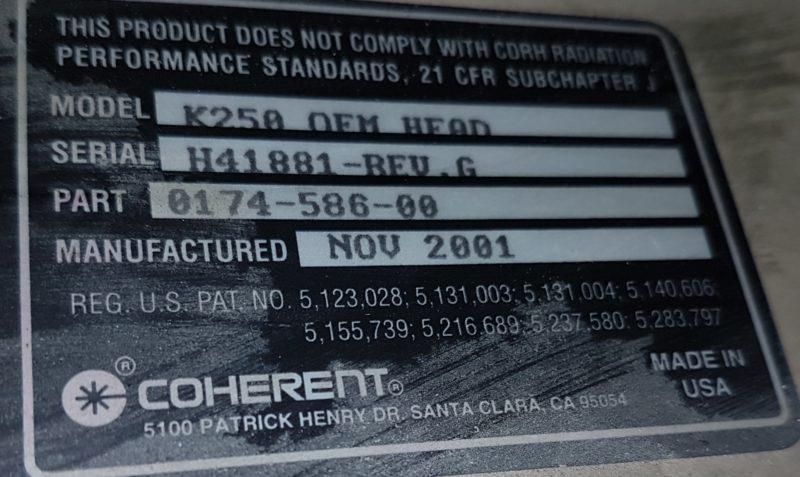 Larga duración coherent K250